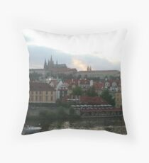 Prague castle Throw Pillow