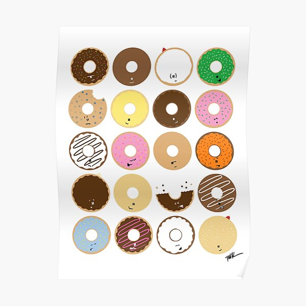 All the Donuts Poster