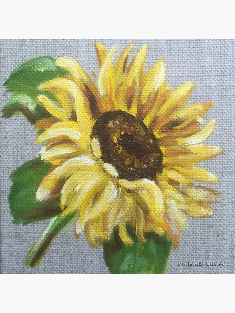 Sun Flower Oil Painting by Angela Brown Art by AngelaBrownArt