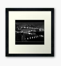River Tyne Night Shot, Newcastle Upon Tyne Framed Print