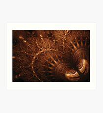 Spherical - Tiger-Eye Gem Art Print