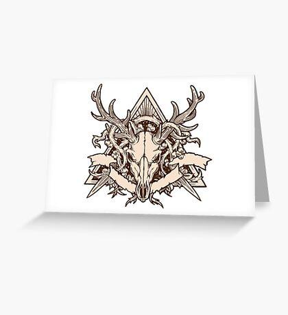 - Dead deer - Greeting Card