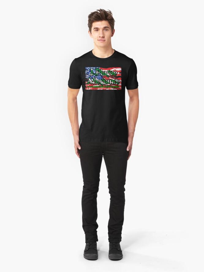 Alternate view of I Plague Allegiance Slim Fit T-Shirt