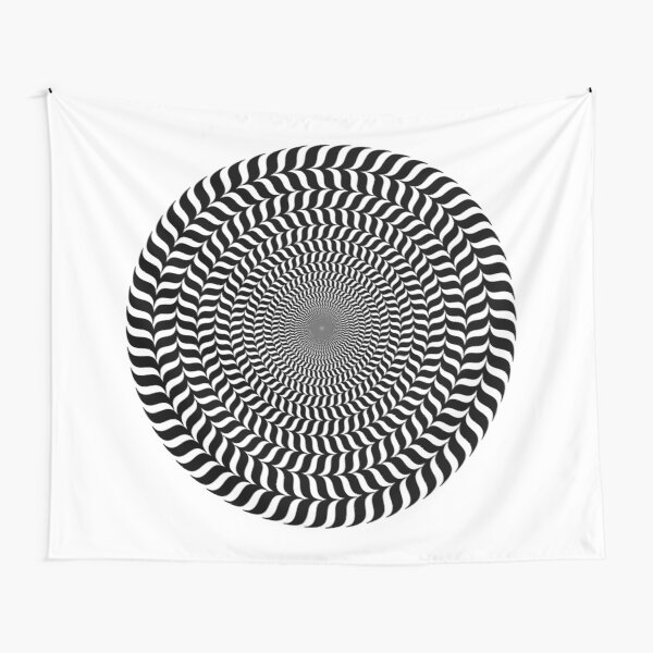 Psychedelic Hypnotic Visual Illusion Tapestry