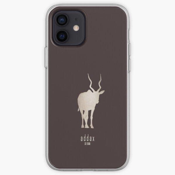 Addax - Endangered and extinct animals (dark background) iPhone Soft Case