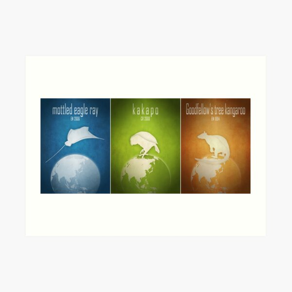 Endangered animals of the Pacific Art Print