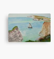 Freshwater Bay IOW, by John Rees Canvas Print