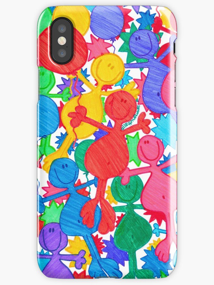 One Balloon Each... (iPhone Case) by Sammy Nuttall