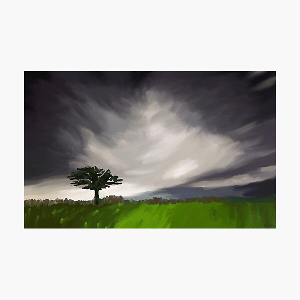 The Tree in the storm Photographic Print