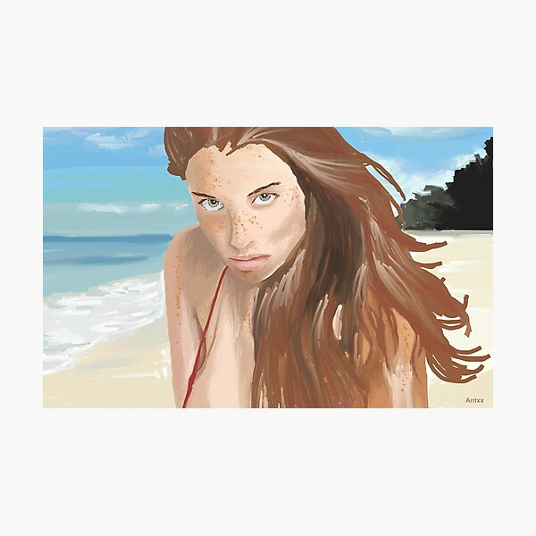 Amit Freidman Model painting Photographic Print