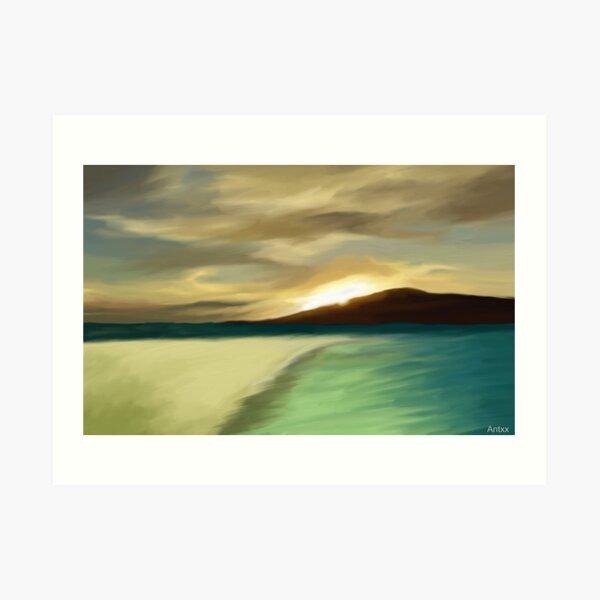 The Island sunset Art Print