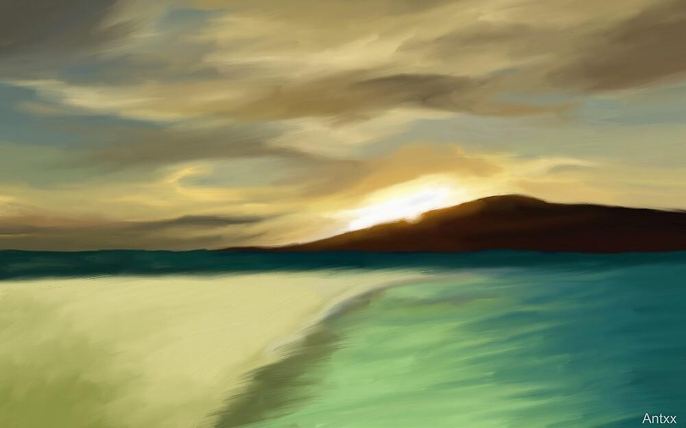 The Island sunset by komaro