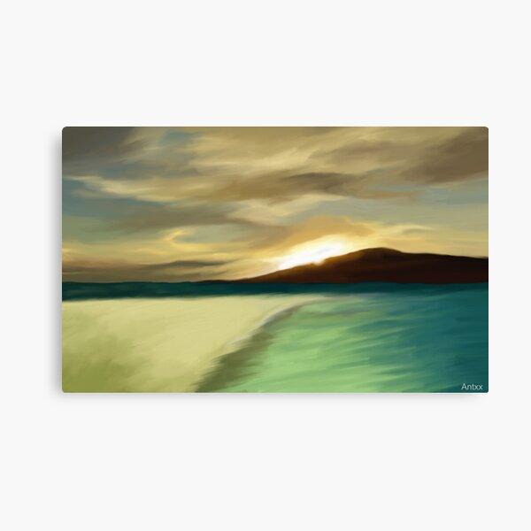 The Island sunset Canvas Print