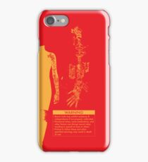 Bionic Arm Warning Shirt iPhone Case/Skin