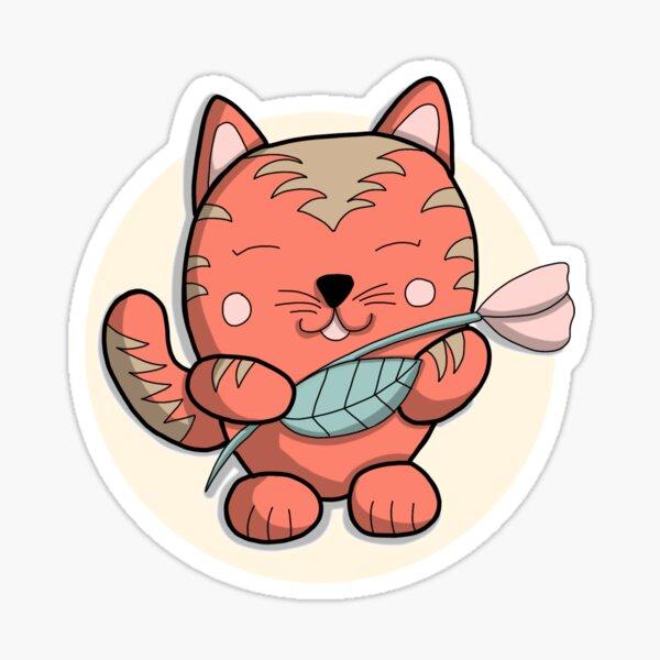 Chat printemps - Personnage doodle Sticker