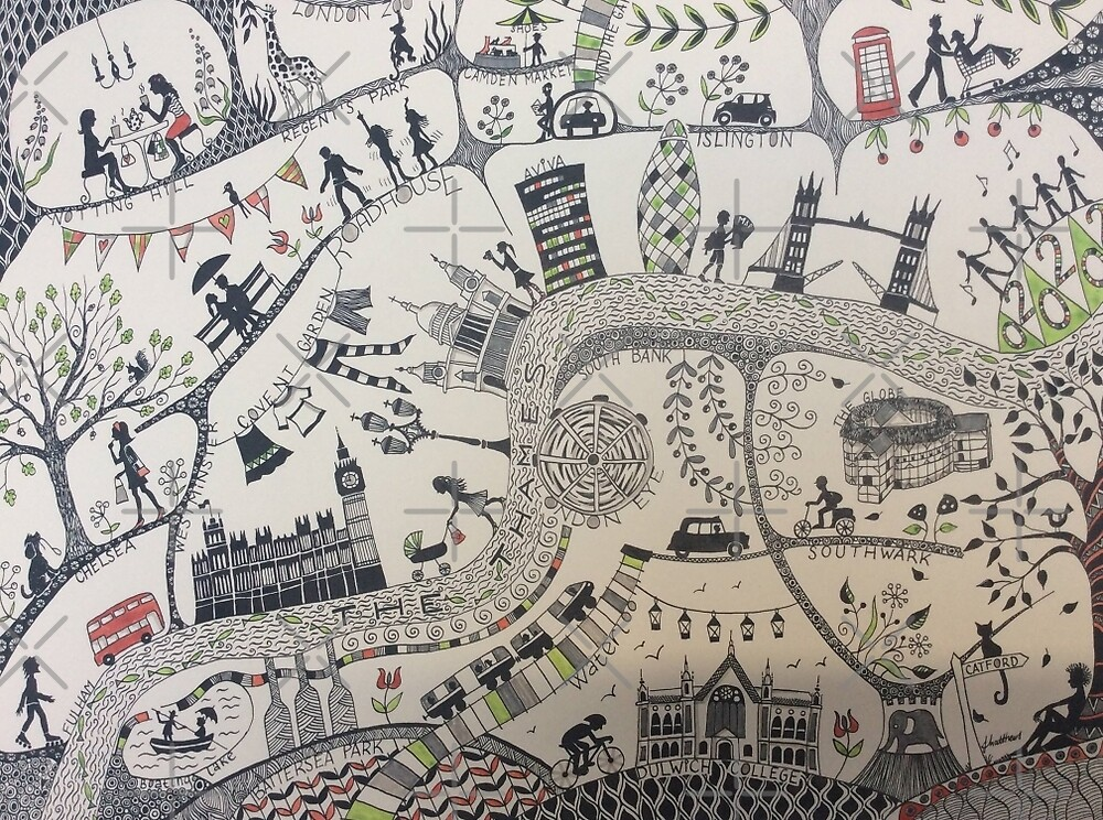 London illustarted map by Judit Matthews