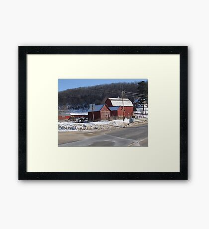 Wisconsin Red Barn Framed Print