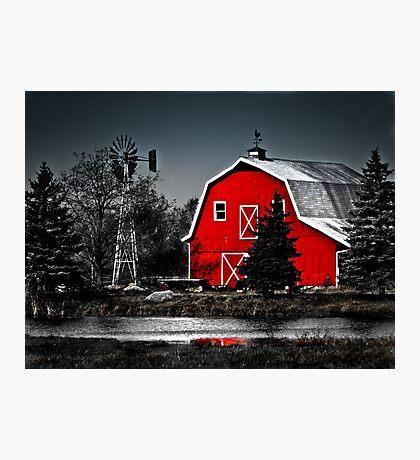 Vibrant Red Barn  Photographic Print