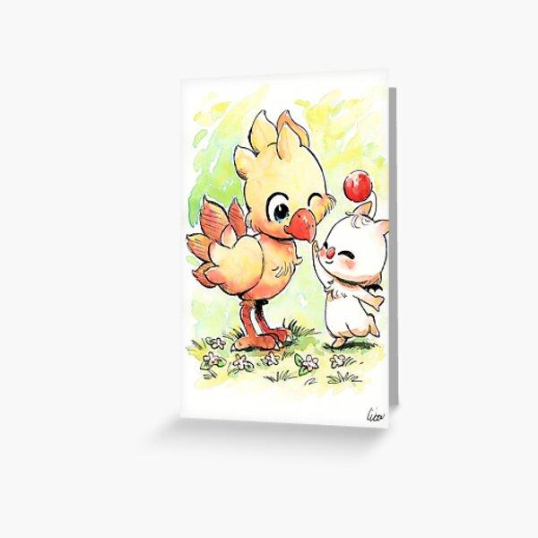 Chocobo Mog final fantasy Carte de vœux