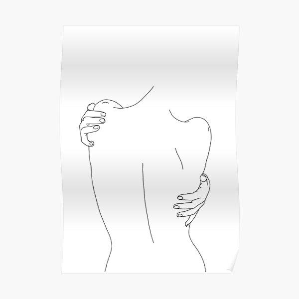 Nude back figure illustration - Fay Poster