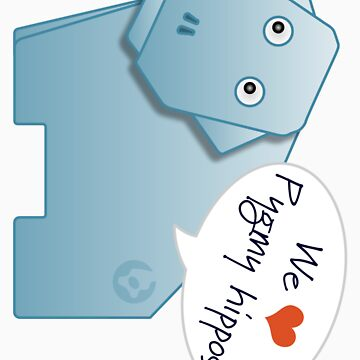 We heart Pygmy Hippos sticker by Boomworks