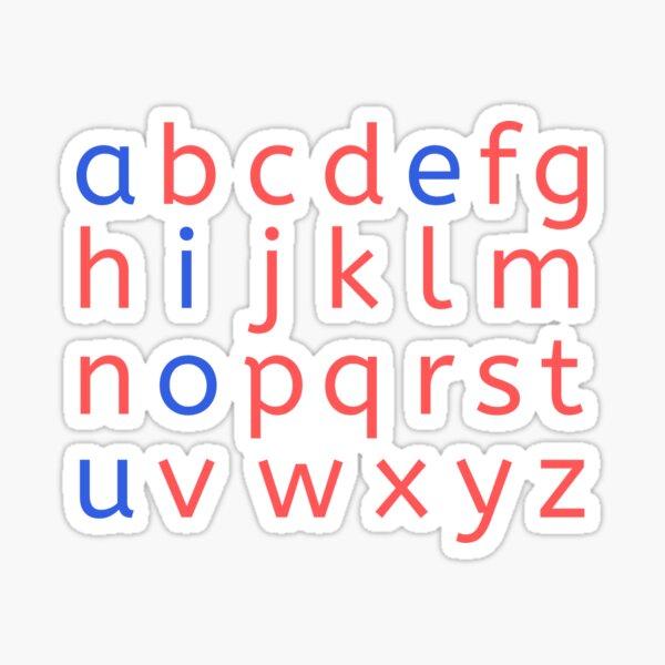 Montessori Movable Alphabet Letters Sticker