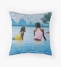 In Conversation Throw Pillow