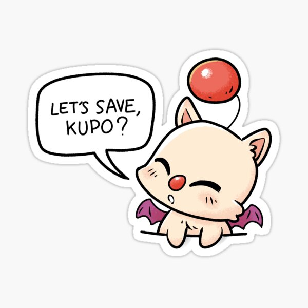 Pocket Moogle Save kupo mog Sticker