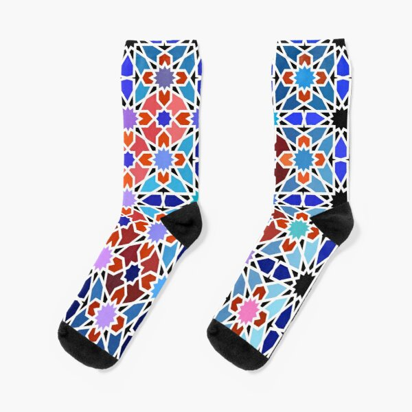 Cellular Islamic Geometry Socks