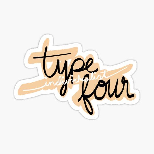 Type four enneagram Sticker
