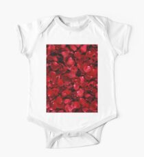 Red Rose Petals One Piece - Short Sleeve