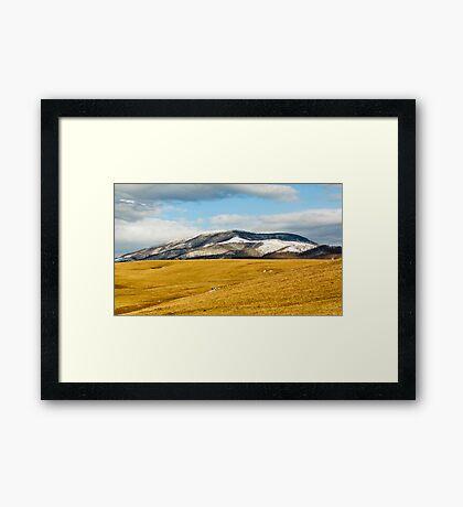 Beartown Mountain in Winter Framed Print