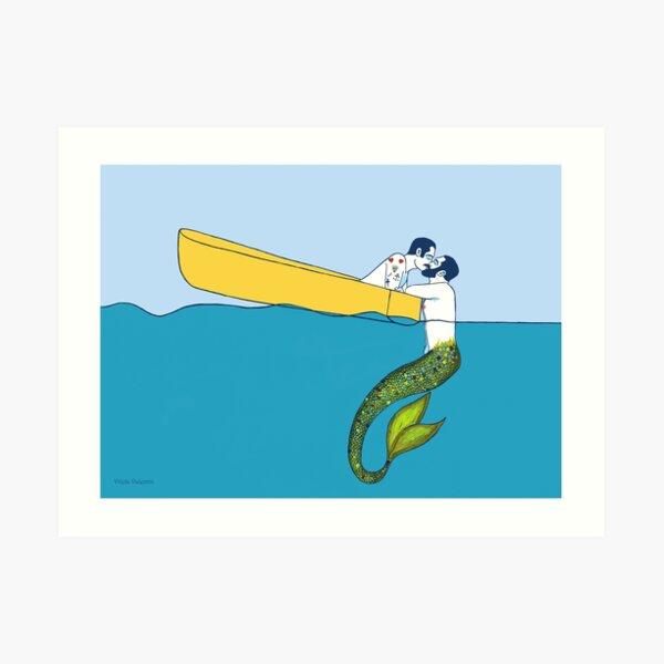 The sailor and the Triton Art Print