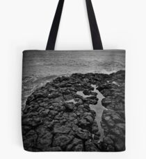 Basalt formations at Don Headlands Tote Bag