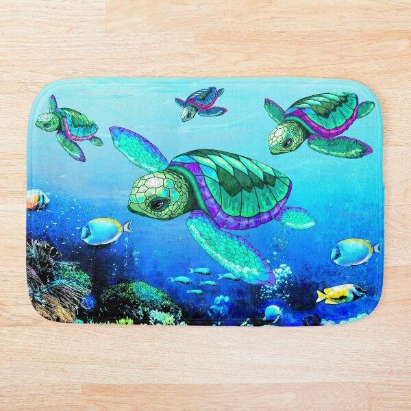 Sea Turtles Dance  Bath Mat