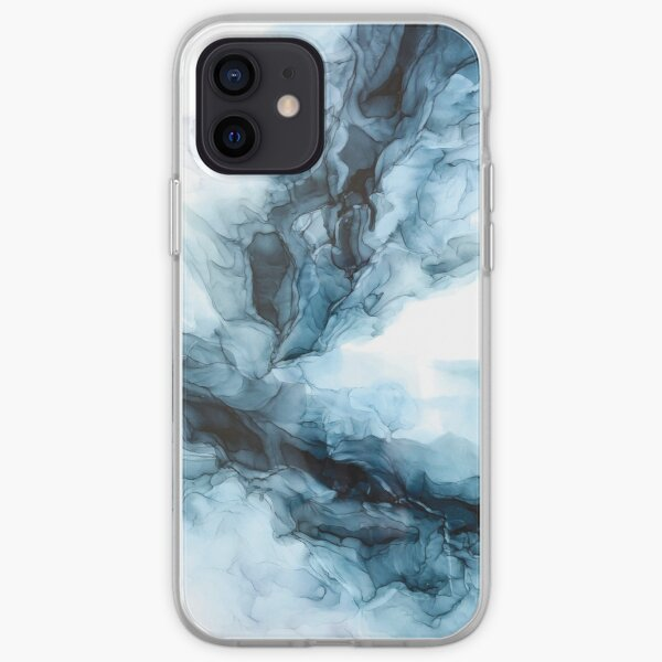 Blue Ice Water Phoenix Abstract Painting iPhone Soft Case