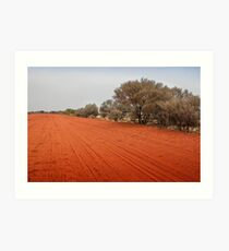 Outback red dirt road Art Print