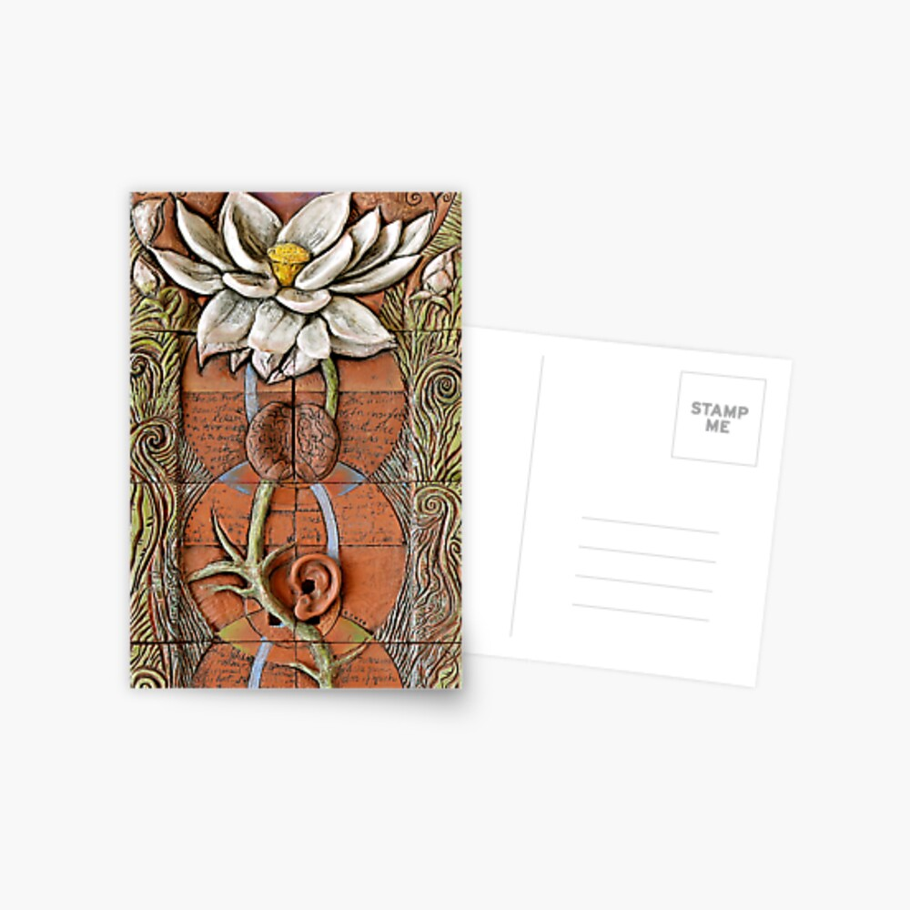 Lotus VII: sense doors - blossoming crown Postcard