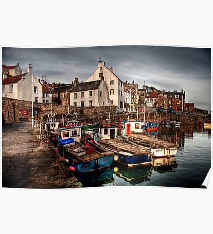 Evening Rolling in over Crail Poster