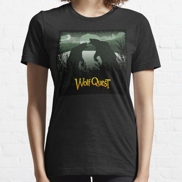 Grizzly Bear Battle at Slough Creek - WolfQuest Dream Essential T-Shirt