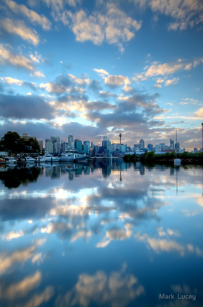 Mirrored Clouds by Mark  Lucey