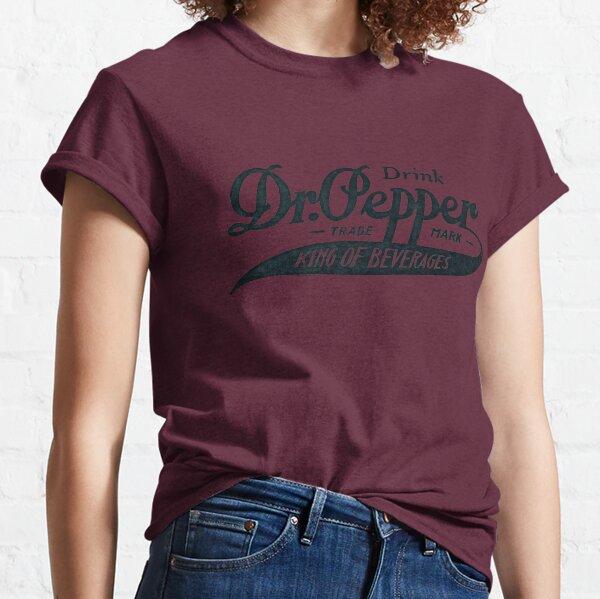 Logotipo vintage Dr. Pepper - Rey de las bebidas (versión en texto negro) Camiseta clásica
