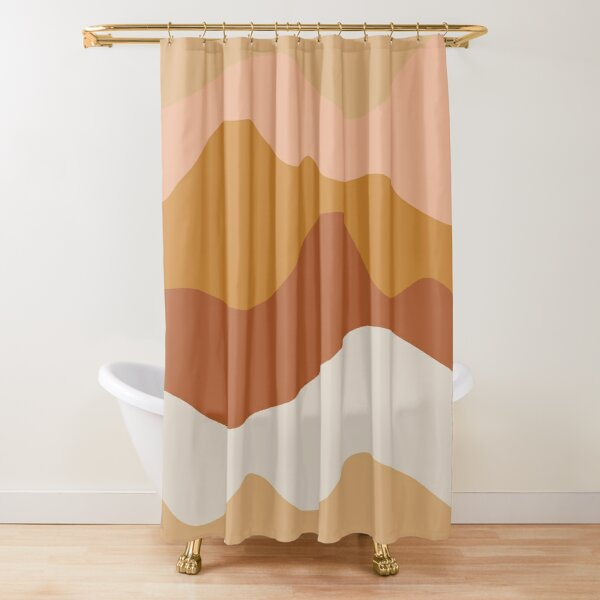 Desert Hills Abstract in Earth Tones Shower Curtain
