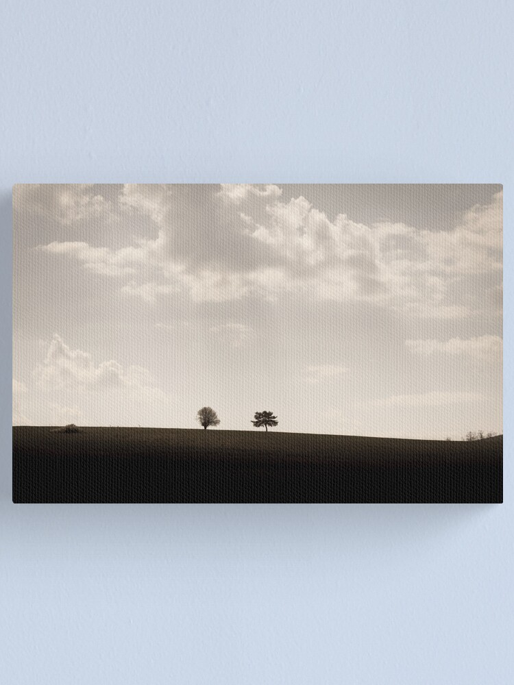 Alternate view of Trees on a hill Canvas Print