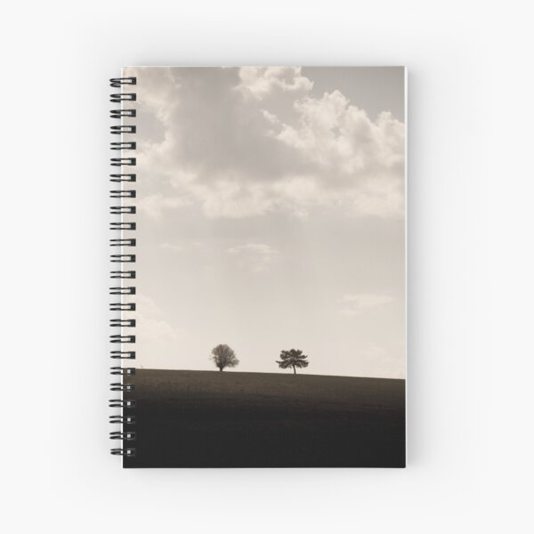 Trees on a hill Spiral Notebook