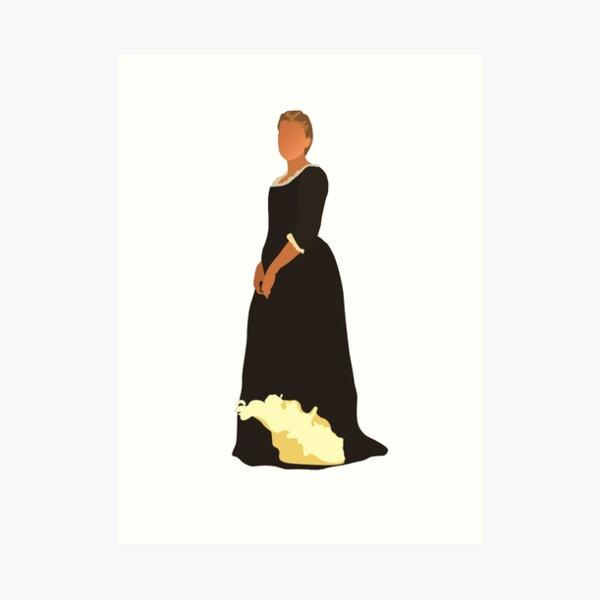 Retrato de una dama en llamas Arte minimalista Lámina artística