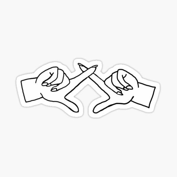 Greek Hand sign Chi O Sticker