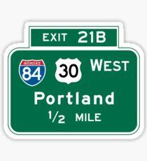 Portland, OR Road Sign, USA Sticker