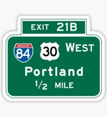 Portland, OR Road Sign, USA Sticker