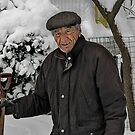 Tom Shovels snow by andytechie